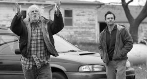 Bruce Dern and Will Forte in Nebraska.